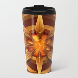 The gold star of the deep torch Metal Travel Mug