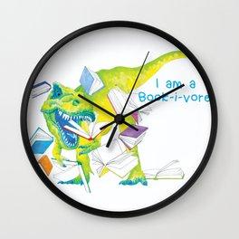 I am a Book-i-vore! Wall Clock