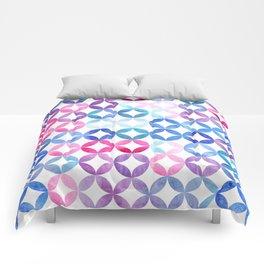 Geometric pattern with petals. Turkish pattern. Comforters