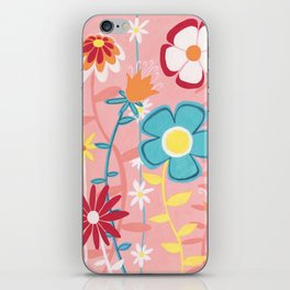 Flowers on Pink iPhone Skin