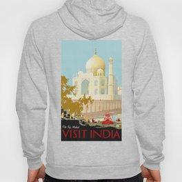 Visit India - Taj Mahal - Vintage Travel Poster Hoody