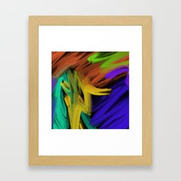 Abstract 3 Painting in Oil Framed Art Print