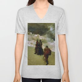 Winslow Homer1 - To The Rescue - Digital Remastered Edition Unisex V-Neck