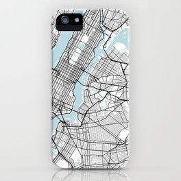 New York City Map of the United States - Circle iPhone Case
