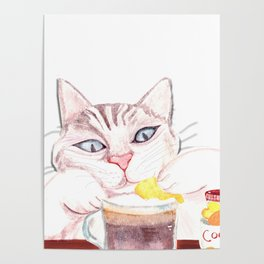 coffee cat Poster