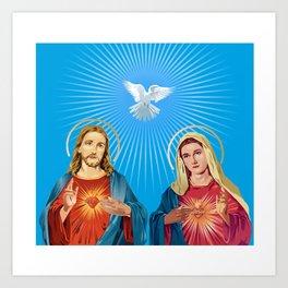 Jesus Christ and the Virgin Mary Art Print