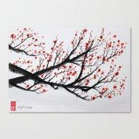 sakura Canvas Prints featuring Sakura by rchaem
