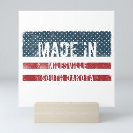 Made in Milesville, South Dakota Mini Art Print