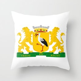 Coat of arms of The Hague Throw Pillow