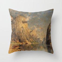 Adelsteen Normann - Sognefjord Throw Pillow