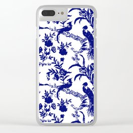 Royal french navy peacock Clear iPhone Case