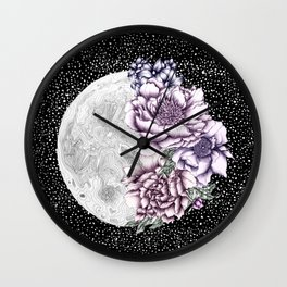 Moon Abloom II Wall Clock