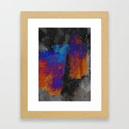 Neon Grunge 3 Framed Art Print