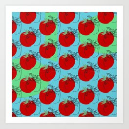 Warm Tomatoes, Way of the Road Series #2 Art Print