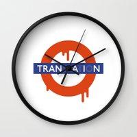 lost in translation Wall Clocks featuring Lost in Translation by John Tibbott
