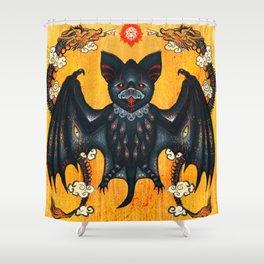 Black Bat Shower Curtain