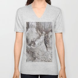 Fabulous Old Gnarled Tree Knot, Old Grey Tree, Woderful Texured Tree Unisex V-Neck