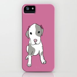 Millie The Pitbull Puppy iPhone Case