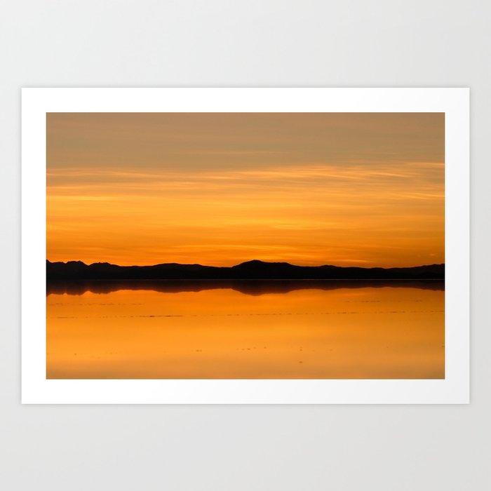 Sunset Salar De Uyuni 5 Bolivia Landscape And Rural Art Photography Art Print