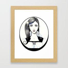Jennifer Skull Framed Art Print