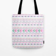 Pink teal blue boho ethnic aztec pattern Tote Bag