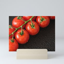 Perfect Red Wet Tomatoes Mini Art Print