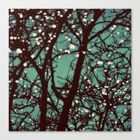 lights Canvas Prints featuring Night Lights by elle moss
