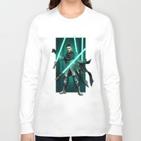 jedi Long Sleeve T-shirts featuring Tesla - Jedi Consular by Salty!
