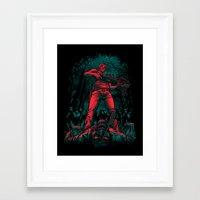 hunter Framed Art Prints featuring Hunter by Fuacka