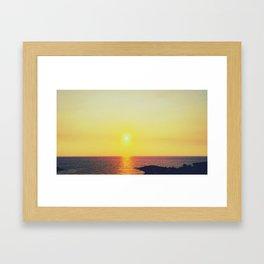 Sensual Sunset Framed Art Print