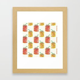 Smoothie glass jar pattern Framed Art Print
