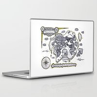neverland Laptop & iPad Skins featuring Neverland Illustration  by Mark Karwowski