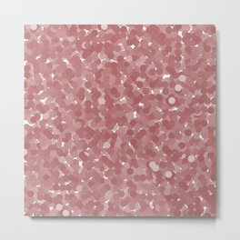 Dusty Cedar Polka Dot Bubbles Metal Print