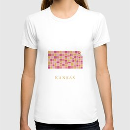 Kansas map T-shirt