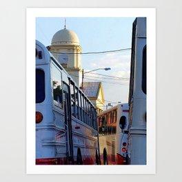 Alajuela Buses Art Print