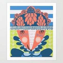 A Very Fancy Fox Print Art Print