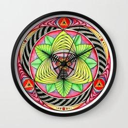 Sun/flower Mandala Wall Clock