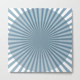 Radial Circular Pattern Metal Print