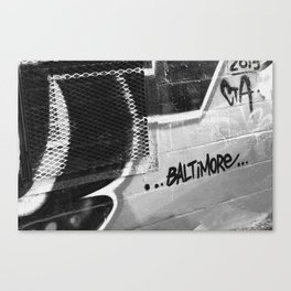 BW Baltimore Canvas Print