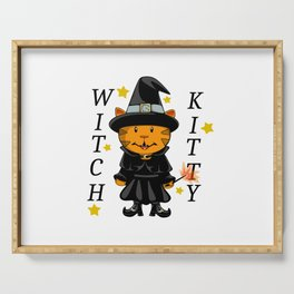 Witch Kitty Serving Tray