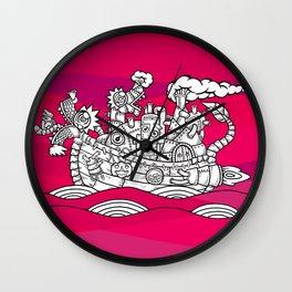 dragon ship Wall Clock