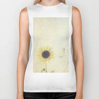 sunflower Biker Tanks featuring Sunflower by Pure Nature Photos