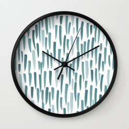 Forest Brush Strokes Wall Clock