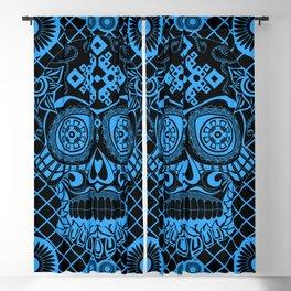 Blueprint pattern skull ecopop Blackout Curtain