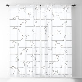 Dog Lines Blackout Curtain
