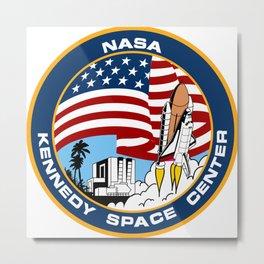 """The """"Public"""" NASA KSC Patch Metal Print"""