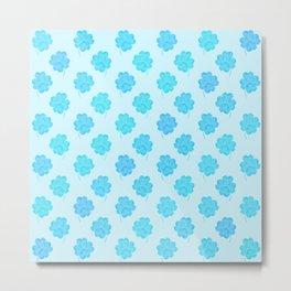 Little Blue Clover Metal Print
