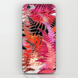 Ferns, Morning Blush iPhone Skin