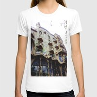 barcelona T-shirts featuring Barcelona by Bryony Ogilvie