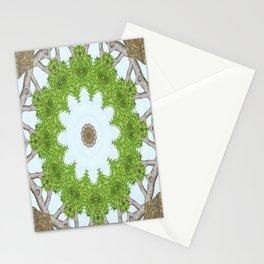 Bark Leaves Stone Kaleidoscope Art 5 Stationery Cards